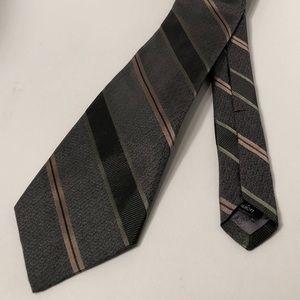 Robert Talbott Green & Brown Striped 100% Silk Tie